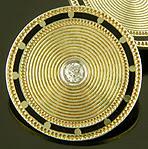 WAB Art Deco cufflinks with diamonds. (J9101)