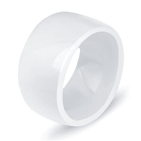 High Quality 10.5mm Polished White Ceramic Rings For Men