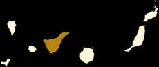 Mapa situacional de la isla de Tenerife