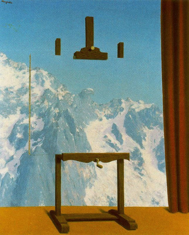 Call of peaks, 1943 Rene Magritte