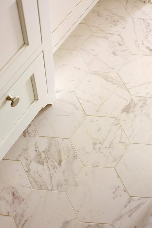 32 white hexagon bathroom tile ideas and pictures