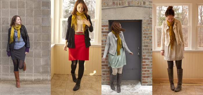 more scarf outfits