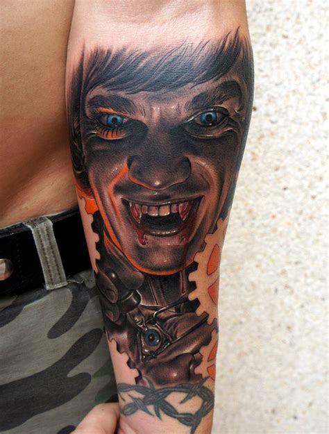 vampire skull tattoo designs