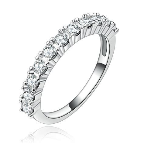 Single Row Half Eternity Band Ring