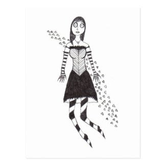The Creepy Heart Girl Postcard