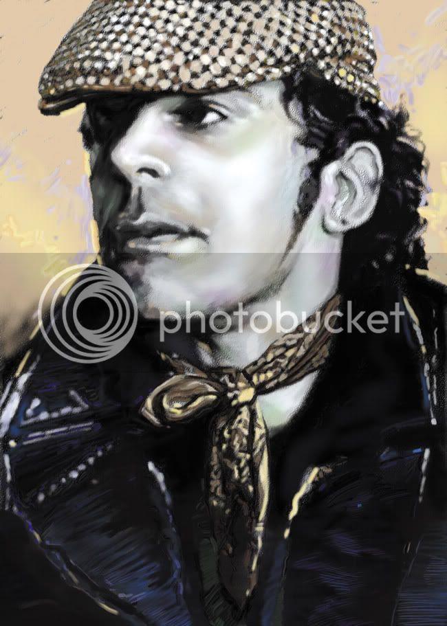 Ian Dury,Painting,Graeme Neil Reid