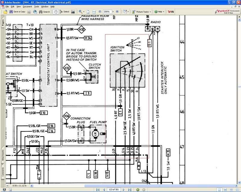 [DIAGRAM] Porsche 944 Ignition Switch Wiring Diagram FULL ...