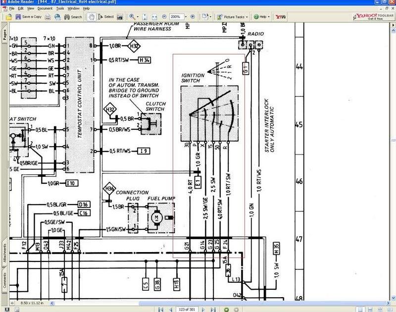 Porsche 944 Ignition Switch Wiring Diagram