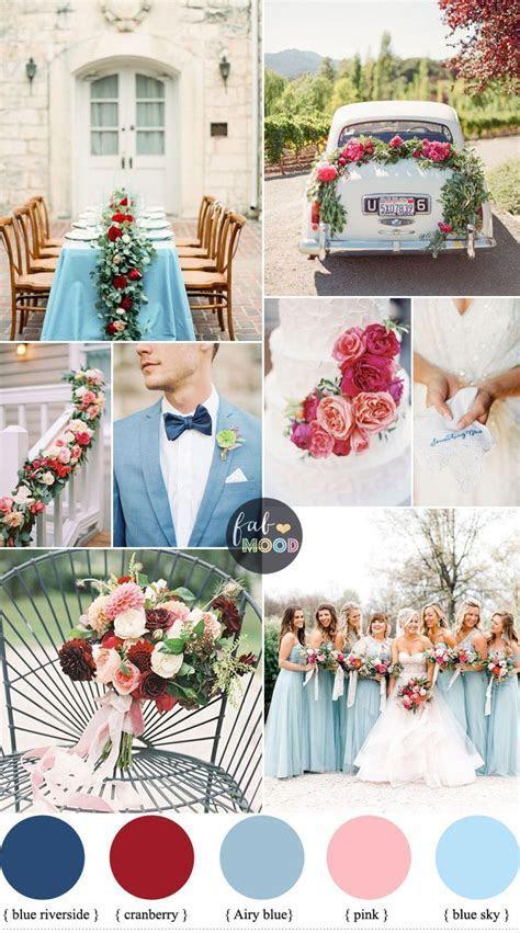 Cranberry, Sky blue wedding Colour combinations for Autumn