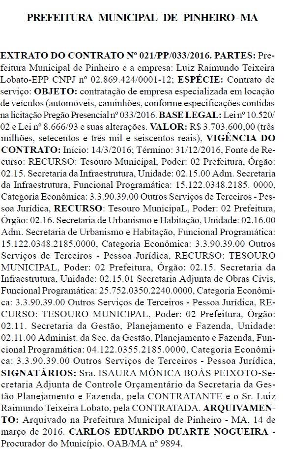 locação veículos PINHEIRO DIA 17.05. 2016 ´PG 41