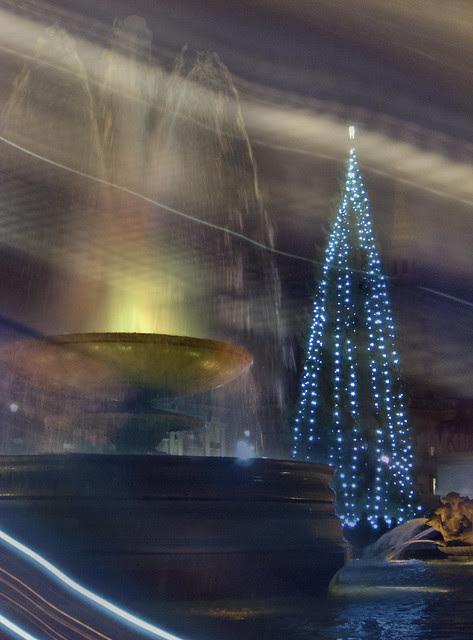 Collage - Trafalgar Sq. Christmas tree