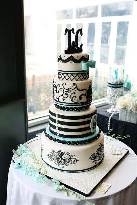 Tiffany Themed Cake   CakeCentral.com