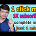 How to get 1K Subscribers free instantly