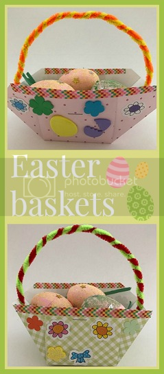 Simple paper Easter baskets