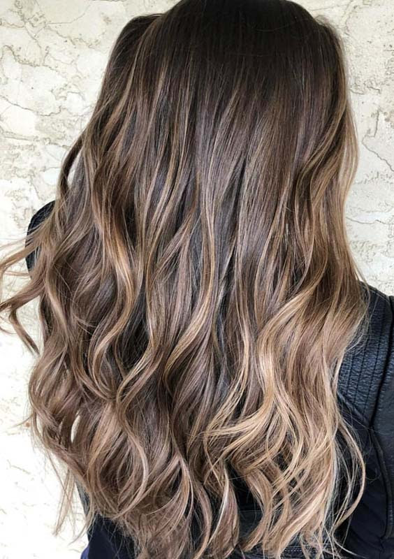 33 Awesome Chocolate Brown Hair Color Ideas with Balayage Highlights 2018  Modeshack