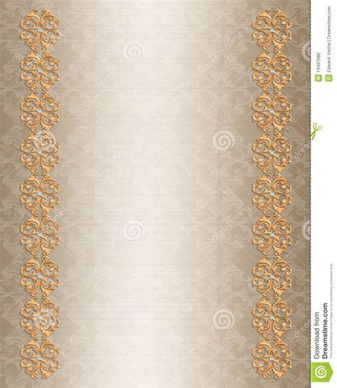 Wedding Invitation Border Gold Elegant Stock Photo   Image
