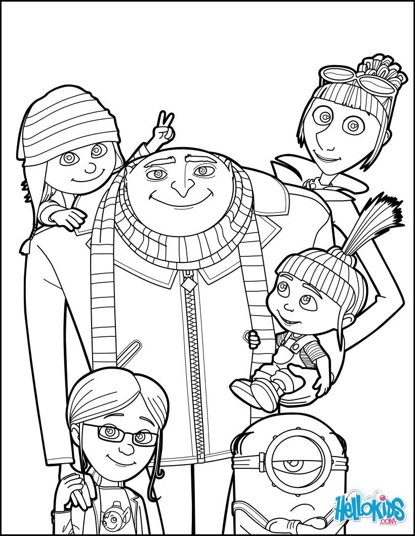 Dibujos Para Colorear Gru Mi Villano Favorito 3 Eshellokidscom