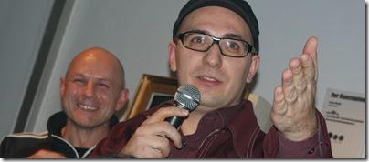 Mario Purkathofer (mit Meinrad Feuchter im Hintergrund)