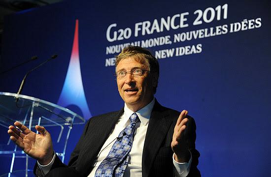 Bill Gates no encontro do G20 no ano passado, em Cannes, na França
