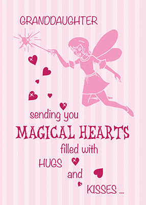 52369 Granddaughter Magical Fairy Pink Valentines Day Sandra Rose