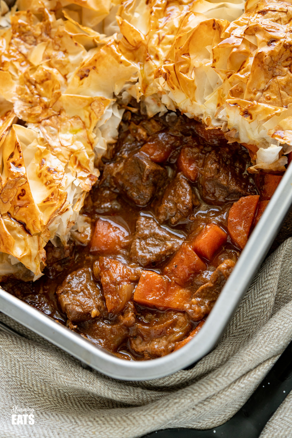 Epic Steak and Vegetable Pie with Filo Pastry | Slimming Eats