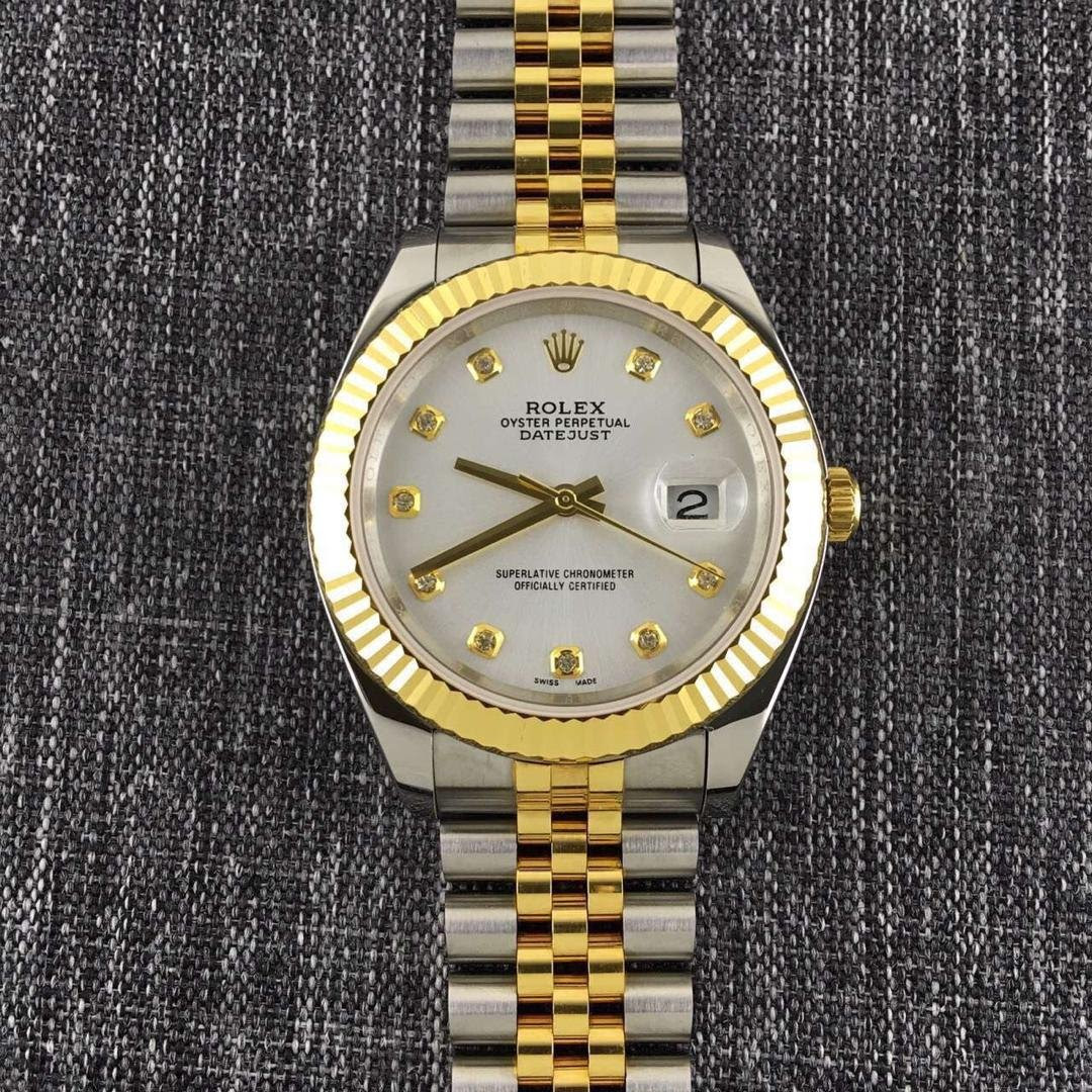 Two Tone Gold Datejust 2 Diamond Markers