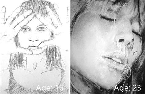 drawings show artists progress