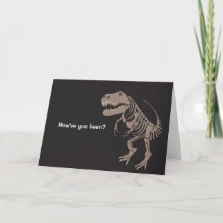 Mr T Rex Greeting Card