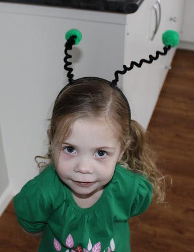 Amelia and her buggy headband