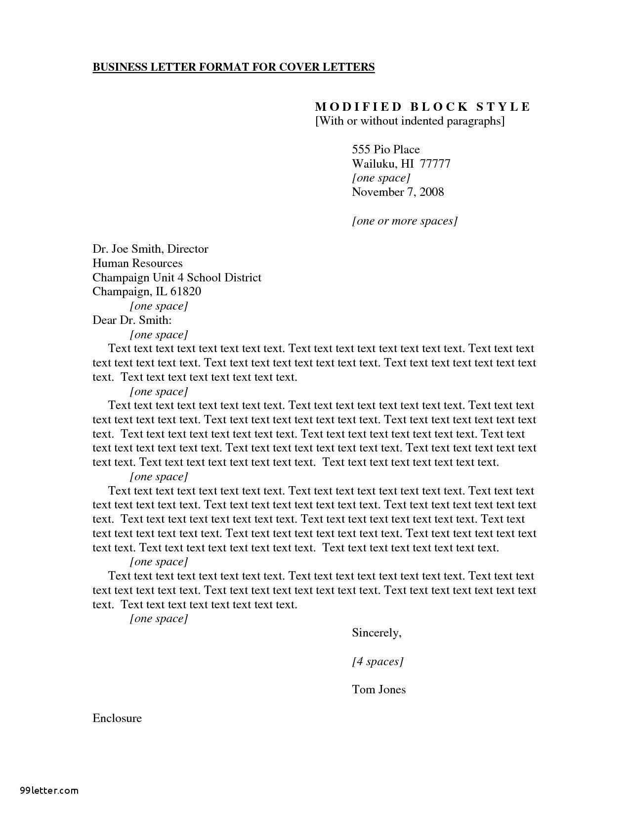 Cover Letter Format Apa