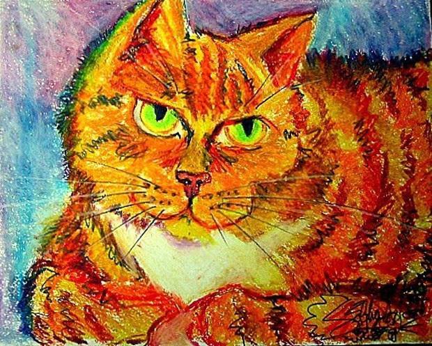 A artista usa os animais como inspiração para suas pinturas (Foto: Divulgação/Siobhan Meow)