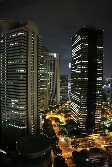 Night view of Shinjuku - facing the eastern side
