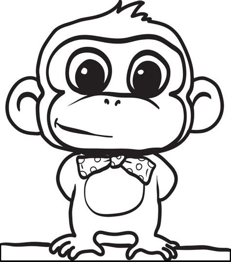 coloring pages  baby monkey gianfredanet