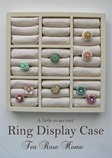How to Make a Vertical Ring Display and the Use of Anti-Tarnish Cloth - The Beading Gem's Journal