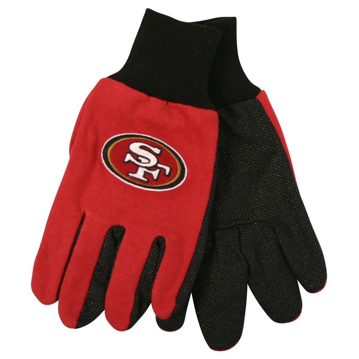 San Francisco 49ers NFL Utility Gloves Pair Football Team Logo Grip SF New  eBay