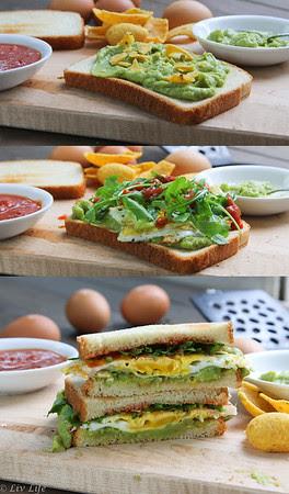 San Diego Guacamole Breakfast Sandwich