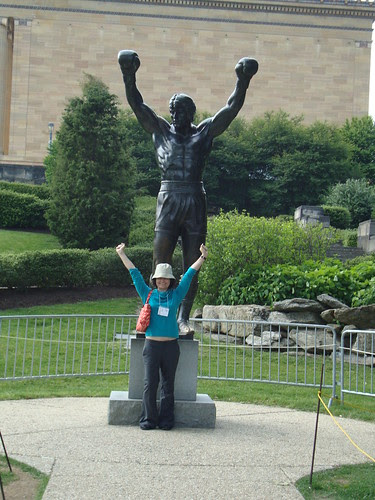 me and the Rocky statue