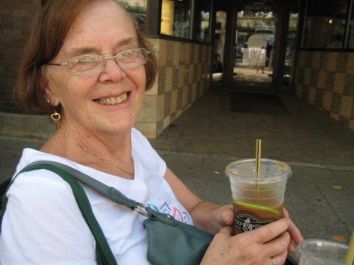 Mom with Iced Coffee, Madison