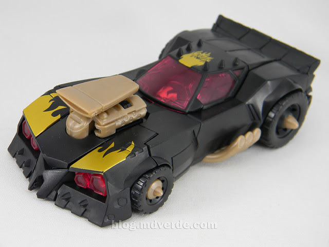 Transformers Blazing Lockdown Animated Deluxe - modo alterno