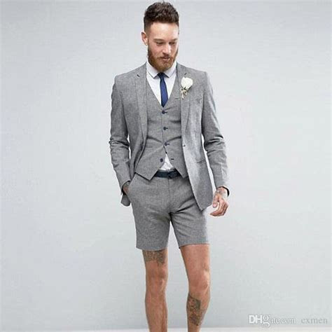 Custom Made Gray Men Suits Handsome Wedding Suits For