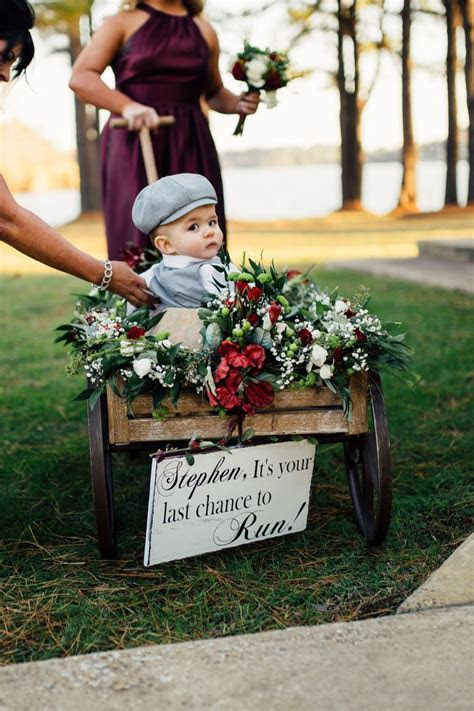 25  best ideas about Ring bearer wagon on Pinterest   Ring