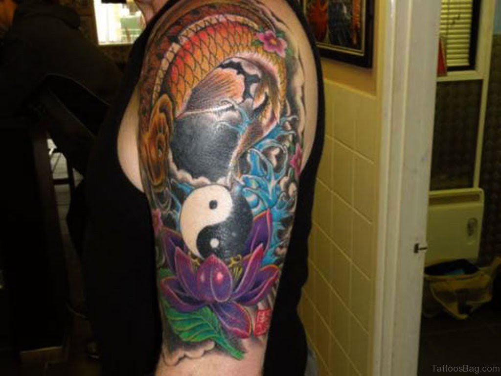 51 Dazzling Yin Yang Tattoos On Shoulder