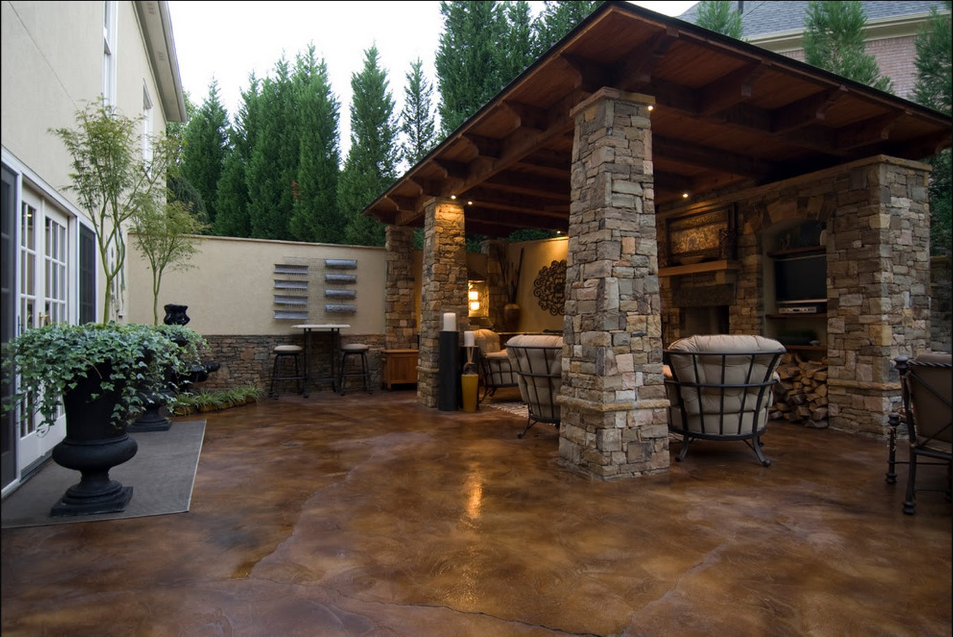 How to Stain Concrete Slabs – Home DIY Projects   Patio Furniture