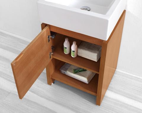 Homethangs Com Has Introduced A Guide To Open Shelf Bathroom Vanities For A Small Bathroom