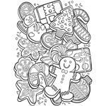 Free Christmas Coloring Page Cookies