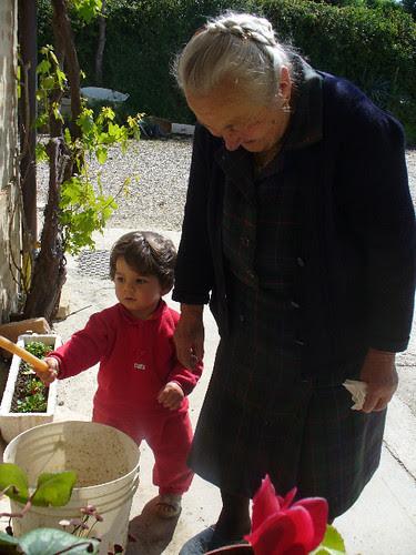 con nonna Amelia