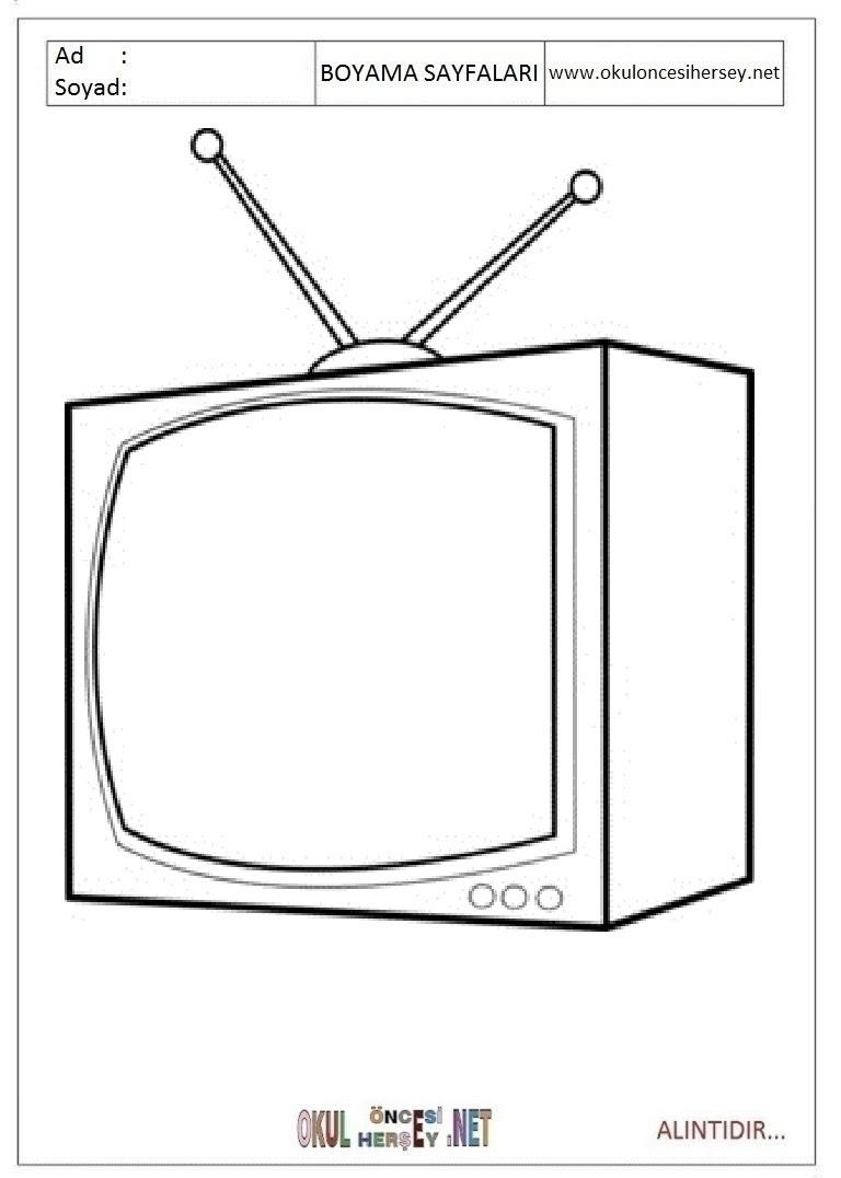 Tv Boyama Sayfaları