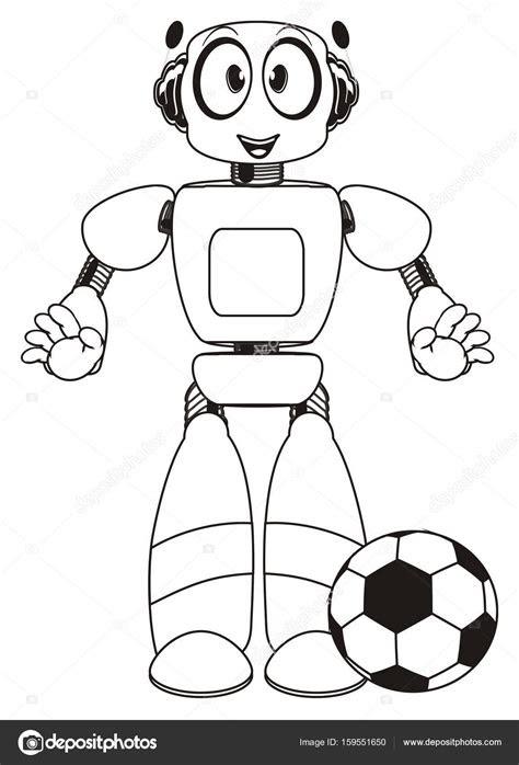 sevimli robot boyama stok foto  tattytatty