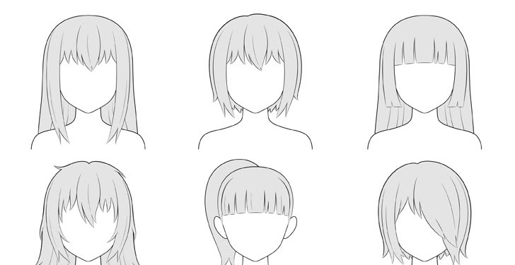 Anime Girl Drawing Hairstyle Dowload Anime Wallpaper Hd