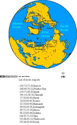 Arctic Ocean seaports.